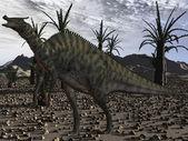 Saurolophus Angustirostris-3D Dinosaur — Stock Photo