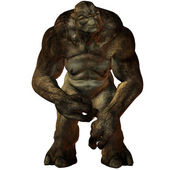 Troll-3D Fantasy Figure — Stock Photo