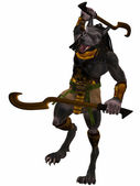 Anubis-Fantasy Egyptian Monster — Stock Photo