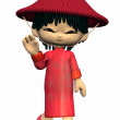 Stock Photo: Little Asian-Toon Figure