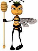 Honey the Toon Bee — Stock Photo