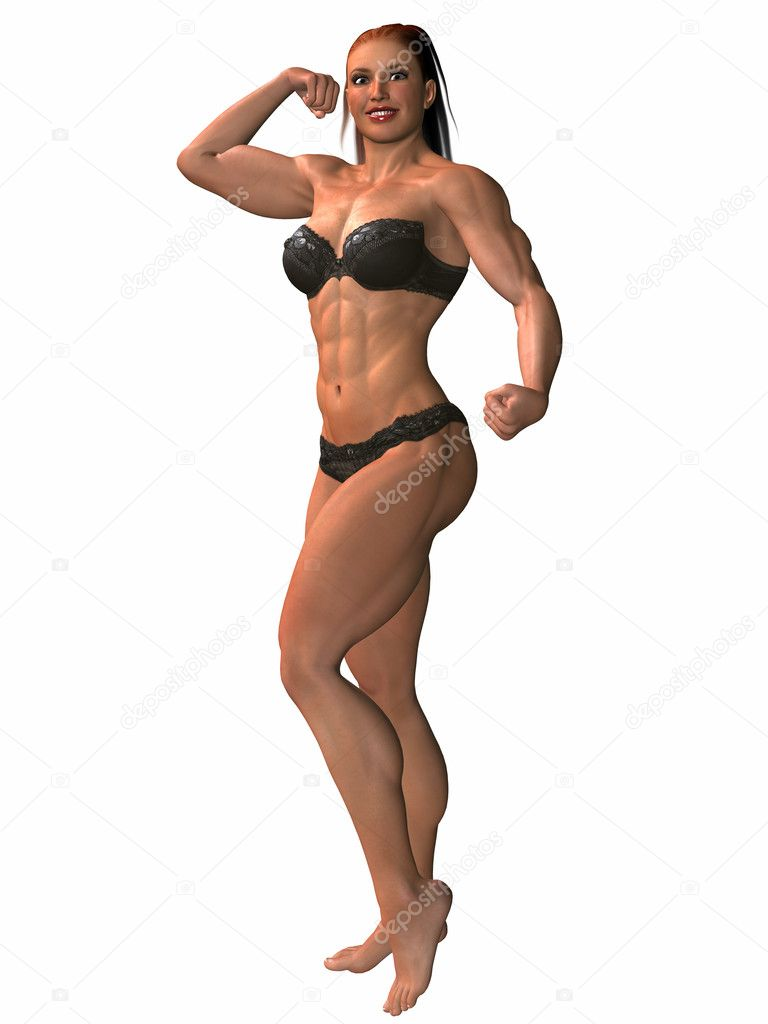 Female Bodybuilder Pose — Stock Photo © Digitalstudio #2859200
