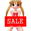 Stock Photo: 3d figure with sale sign