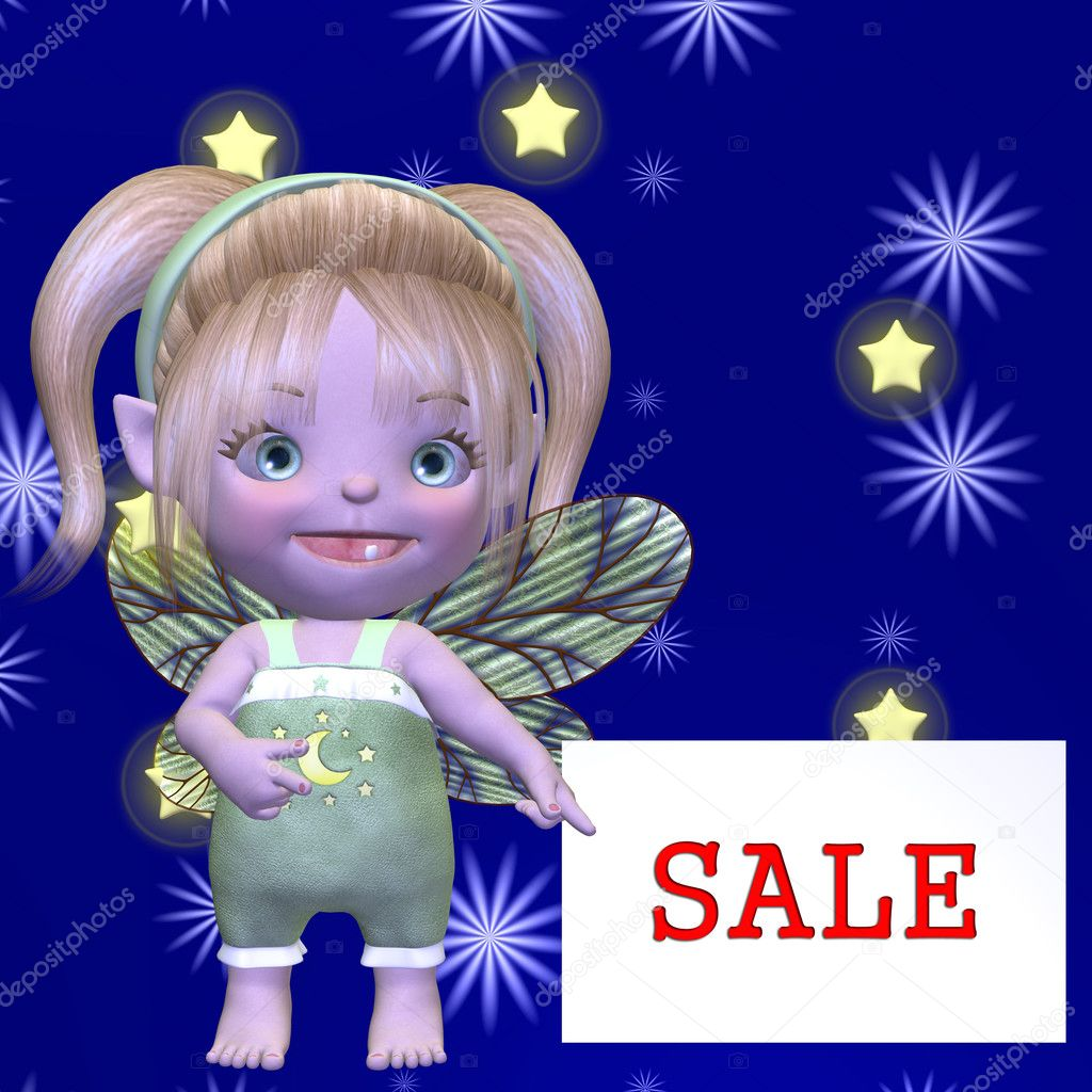 3D Render of an Figure with Sale Sign — Stock Photo #2864868