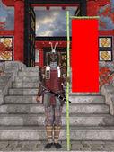 Japanese Samurai — Stock Photo