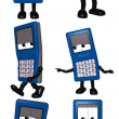 Mobi - The Cell Phone Toon - Stock Photo