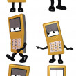 Royalty-Free Stock Photo: Mobi - The Cell Phone Toon