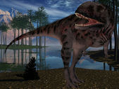 Majungasaurus Crenatissimus - 3D Dinosau — Stock Photo