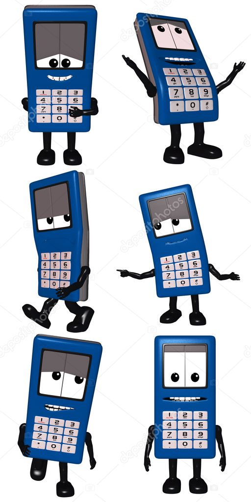 3D Render of an Cell Phone Toon  Stock Photo #2984547