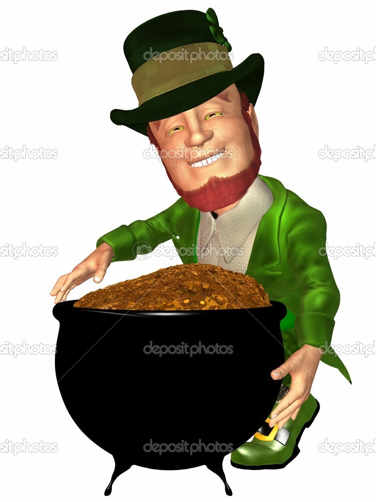 3D Render of an Toon Leprechaun — Stock Photo #2987468