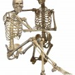 3 D Skeletons - Friends for ever — Stock Photo