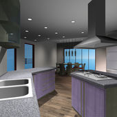 Modern House-Kitchen — Foto de Stock