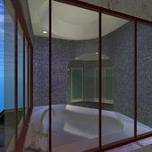 Moderno cuarto de baño casa-maestro — Foto de Stock