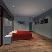 Casa moderna-quarto — Foto Stock
