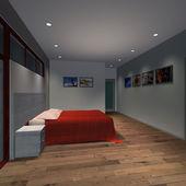Moderní dům hlavní ložnice — Stock fotografie