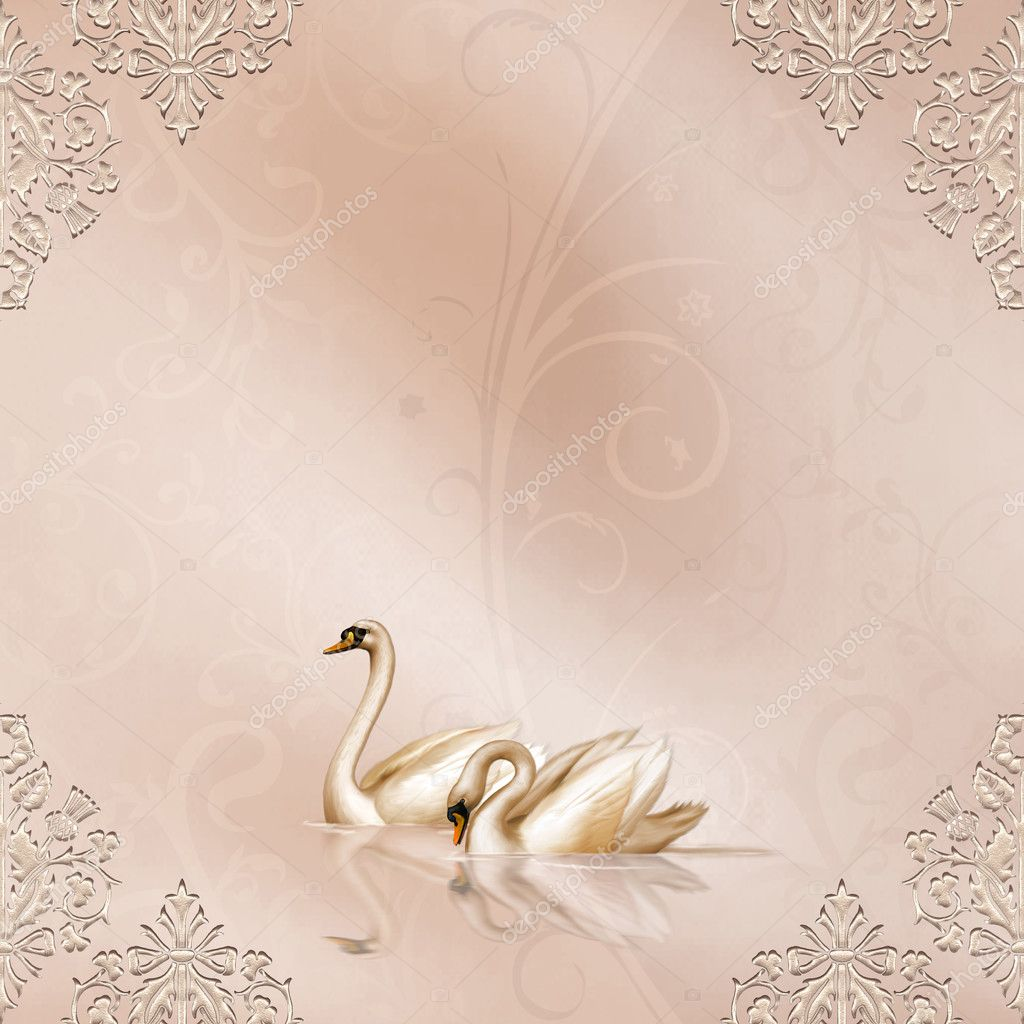 Elegant Card with Wedding Design  Stock Photo #3003695