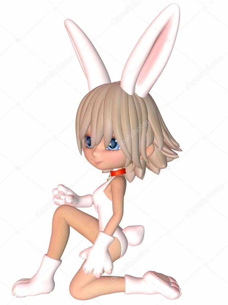 可爱的卡通图-小兔子