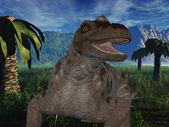 Keratocephalus - 3D Dinosaur — Stock Photo