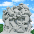 Sculpture of children — Stock Photo