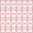 Vector seamless red and white pattern - Stock Vector