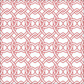 Vector seamless red and white pattern — Stock Vector