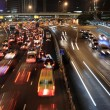 Traffic jam in Hong Kong at night — Stockfoto