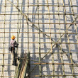 Building a scaffold with bamboo — Stock Photo #2784608