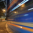 A speed tram blur — Stock Photo