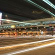 Royalty-Free Stock Photo: Toll booths with car light in Hong Kong