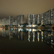 Hong Kong public housing and river — Stock Photo
