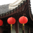 Three lantern under roof — Stock Photo
