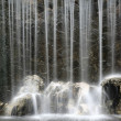 Artificial waterfall background - Stock Photo
