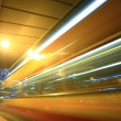 Fast moving bus at night — Stockfoto #2785115