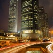 Hong Kong Night Scene - Stockfoto