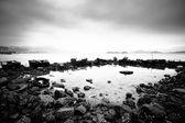 Des étoffes gaspillés à la côte — Photo