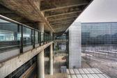 Footbridge in Hong Kong airport — Stock Photo