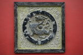 Dragon de bronze sculpture — Photo
