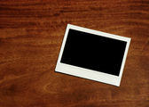 Empty instant photo frame — Stock Photo