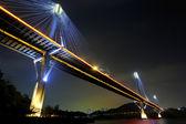 Ting kau bridge nocą — Zdjęcie stockowe