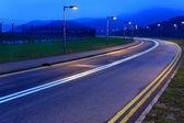Road at night — Stock Photo