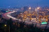 高速道路やコンテナー ターミナル — ストック写真