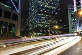 Traffic in downtown, Hong kong — Stock Photo