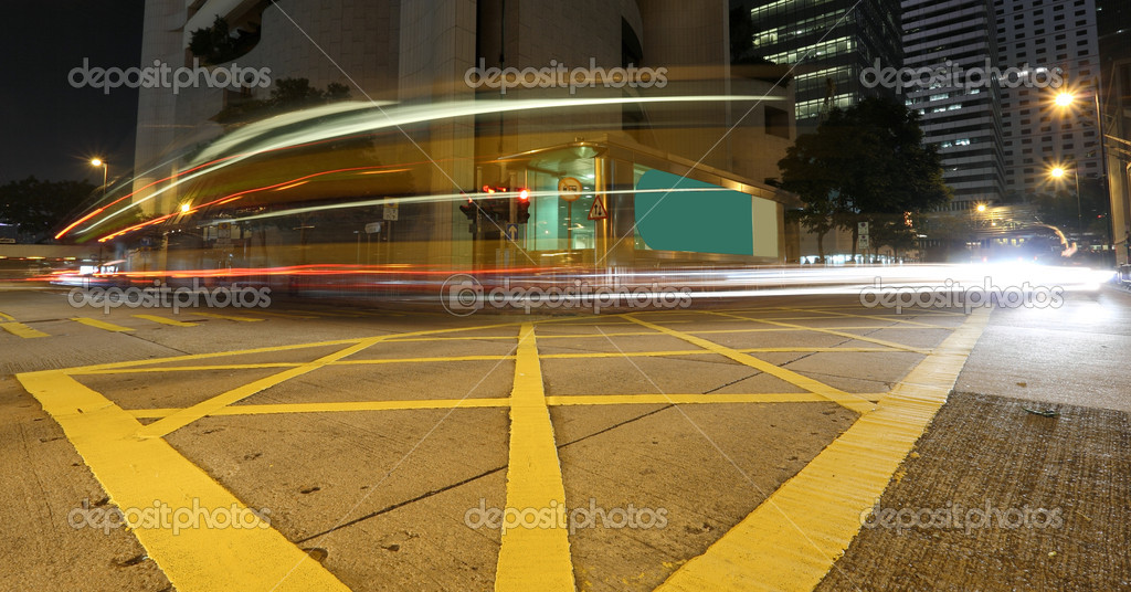 Fast moving bus at night — Stock Photo #2784850
