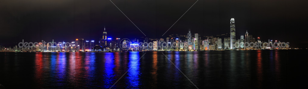 Hong Kong at night panorama — Stock Photo #2785615