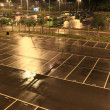 Car park at night — Stock Photo