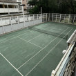 Old tennis court — Stock Photo