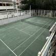 Stock Photo: Old tennis court