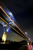 Hong Kong night, Ting Kau Bridge — Stock Photo