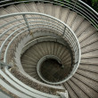 Stock Photo: Spiraling stairs , low saturation
