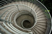 Spiraling stairs , low saturation — Stock Photo